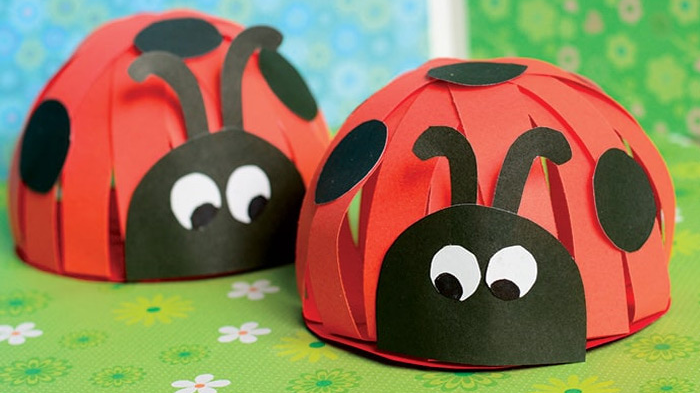 Paper Lady Bugs