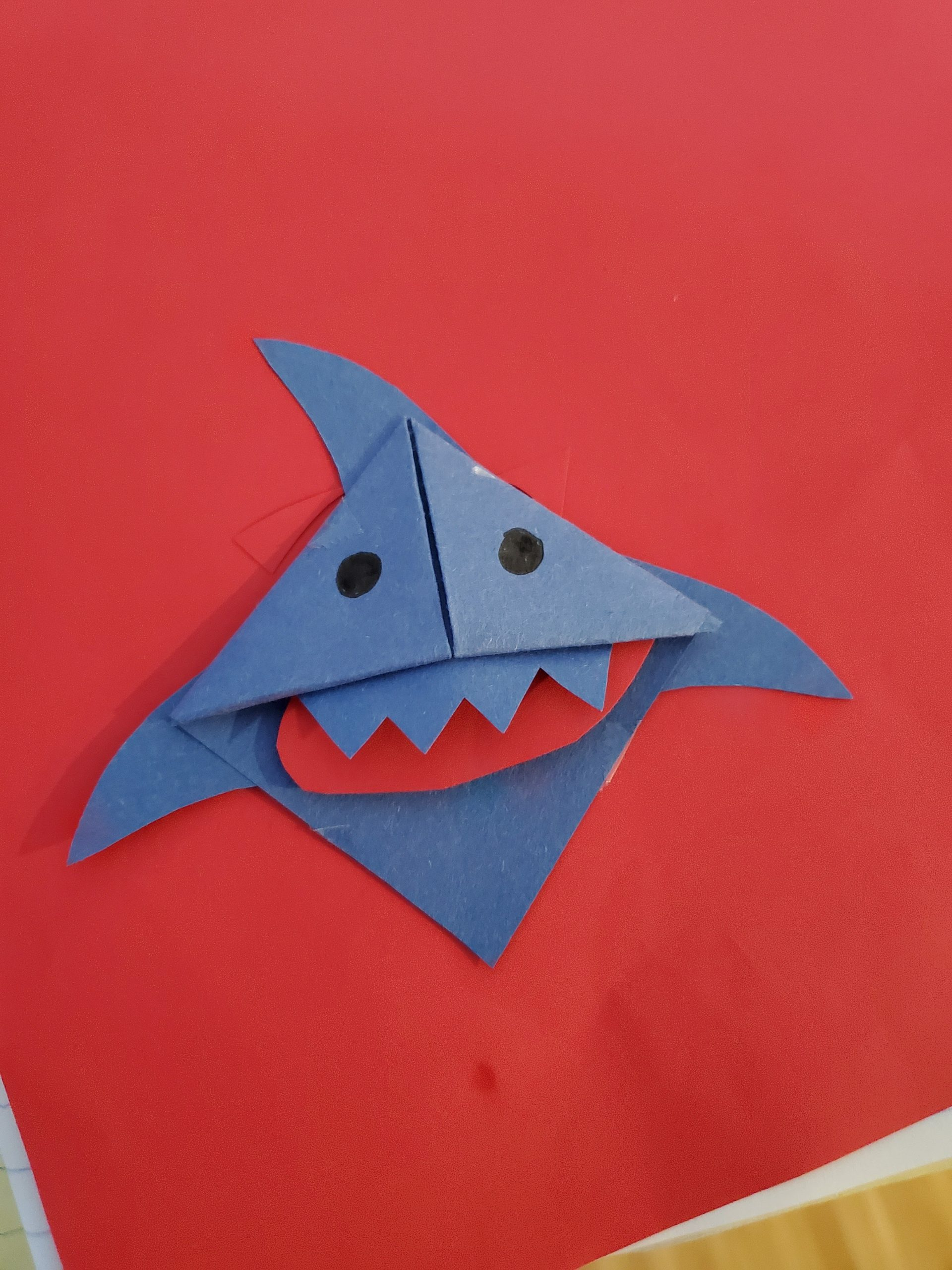 Curbside Craft: Shark Bookmark