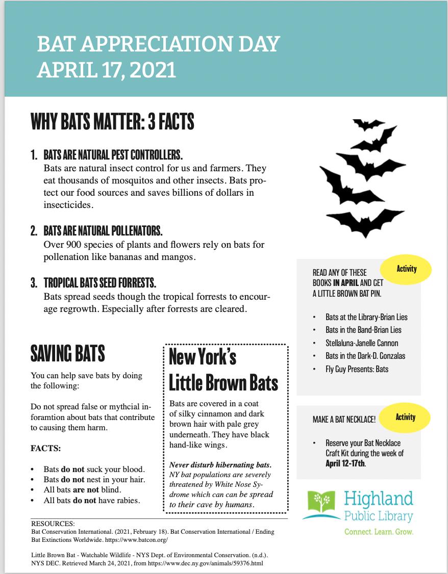 Bat Appreciation Day Fact Sheet