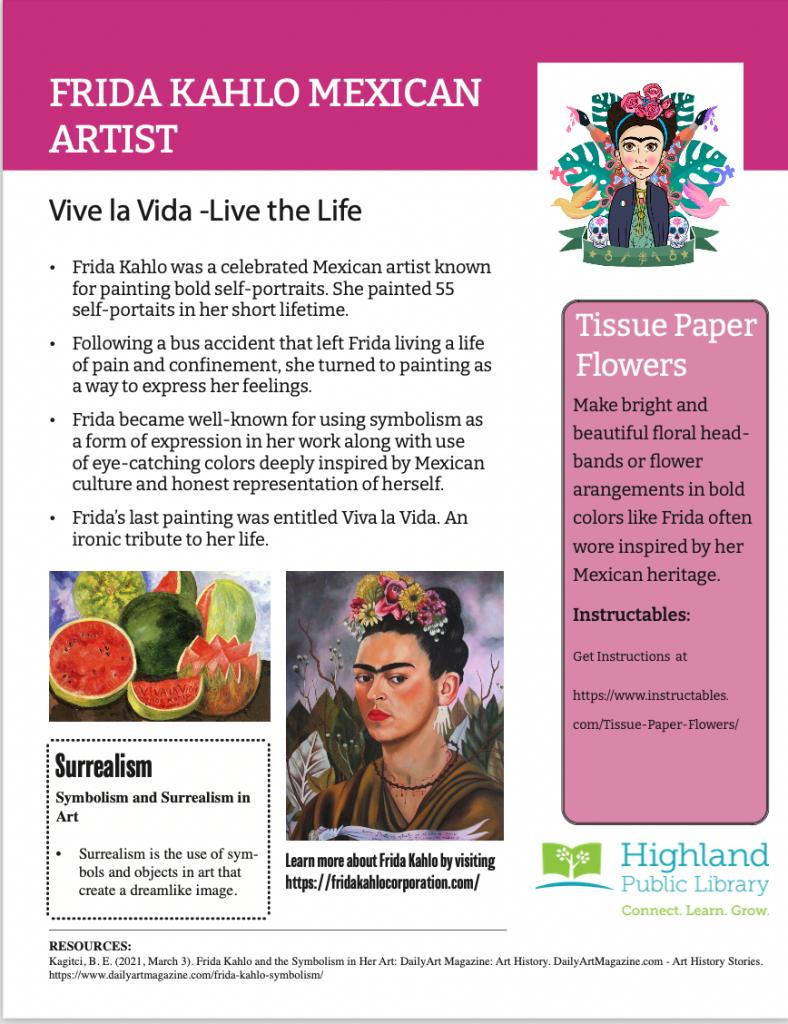 Fun Fact Actitivity-Frida Kahlo